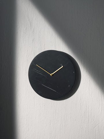 Marble Wall Clock in Black design by Menu