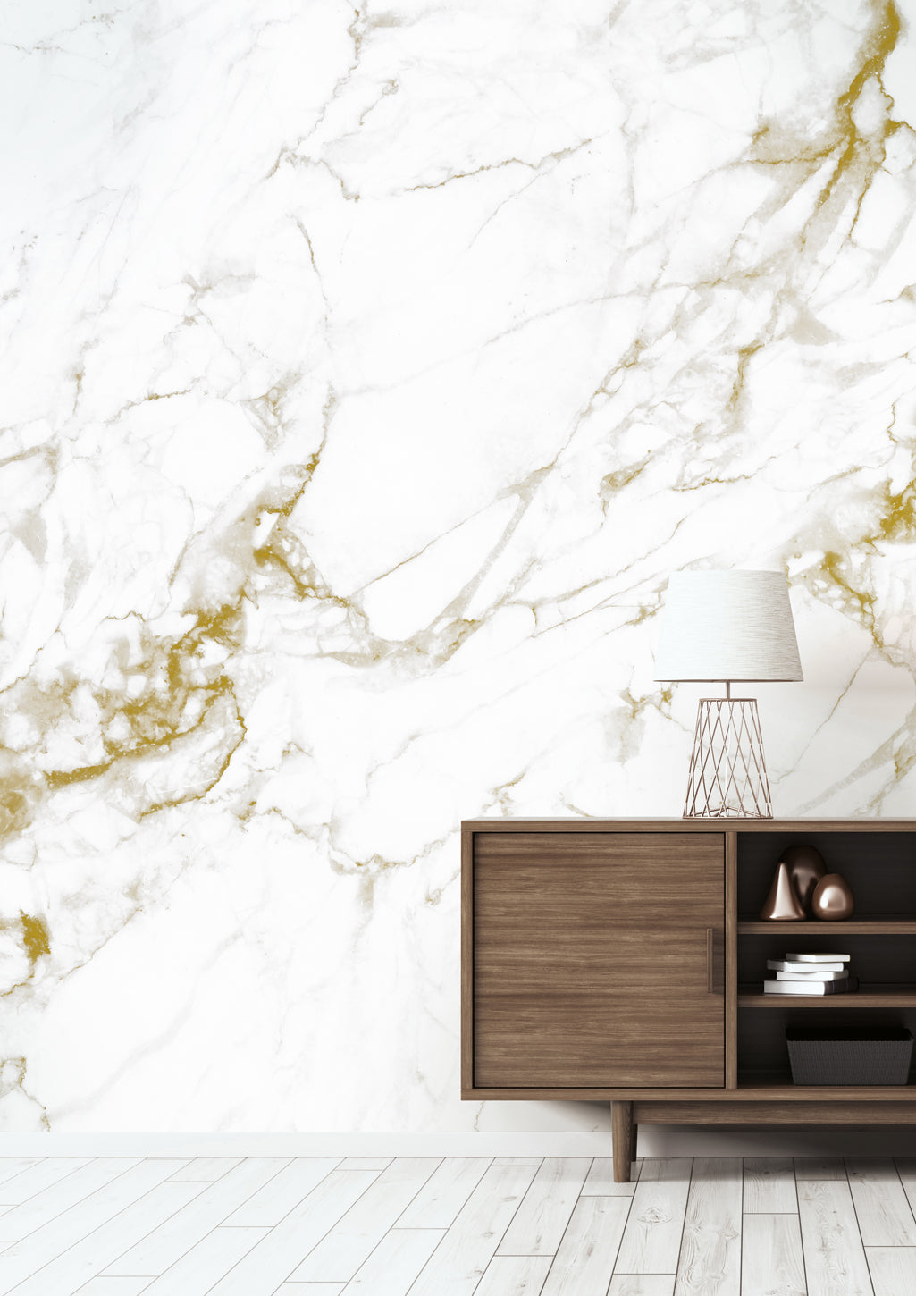 Marble White Gold 554 Wall Mural By Kek Amsterdam Burke Decor