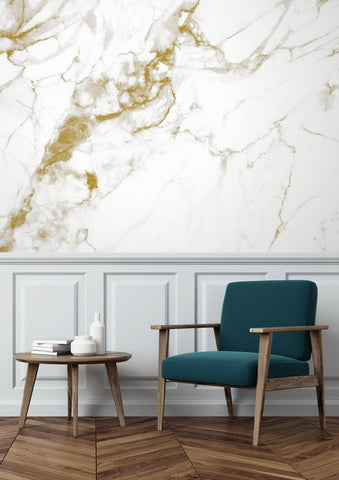 Marble White-Gold 556 Wall Mural by KEK Amsterdam