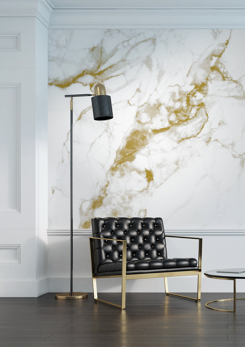 Marble White Gold 556 Wall Mural By Kek Amsterdam Burke Decor