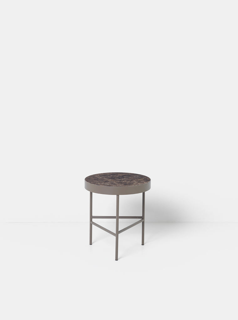 Medium Marble Table in Brown by Ferm Living