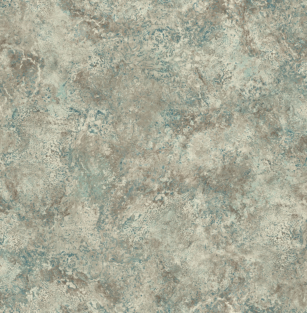 Sample Marbled Paint Wallpaper in Green from the Caspia Collection by Wallquest