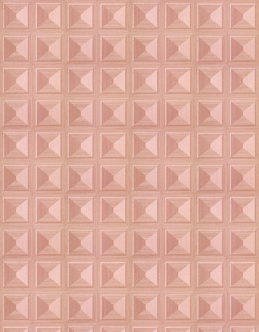 Sample Marquetry Wallpaper in Pink by Thomas Eurlings for NLXL Lab