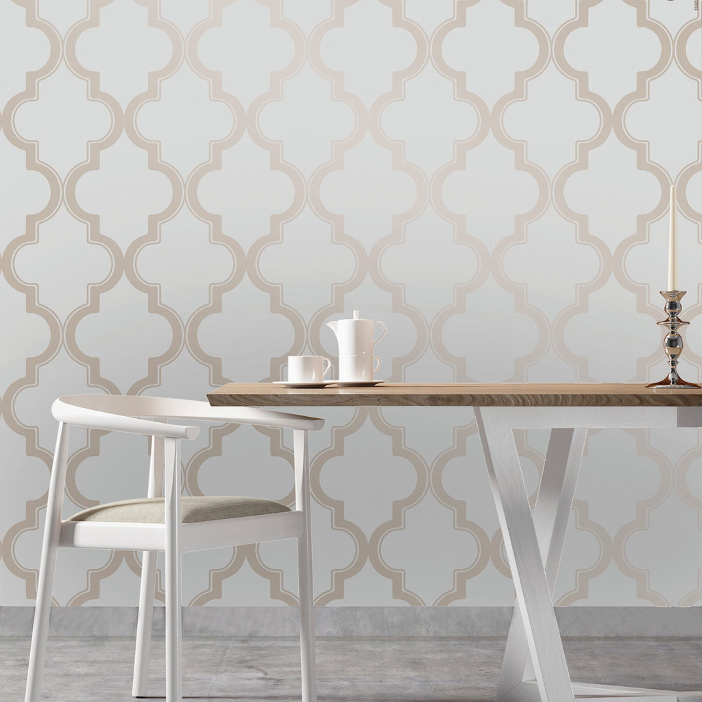 Marrakesh Self Adhesive Wallpaper in Bronze Grey design by Tempaper