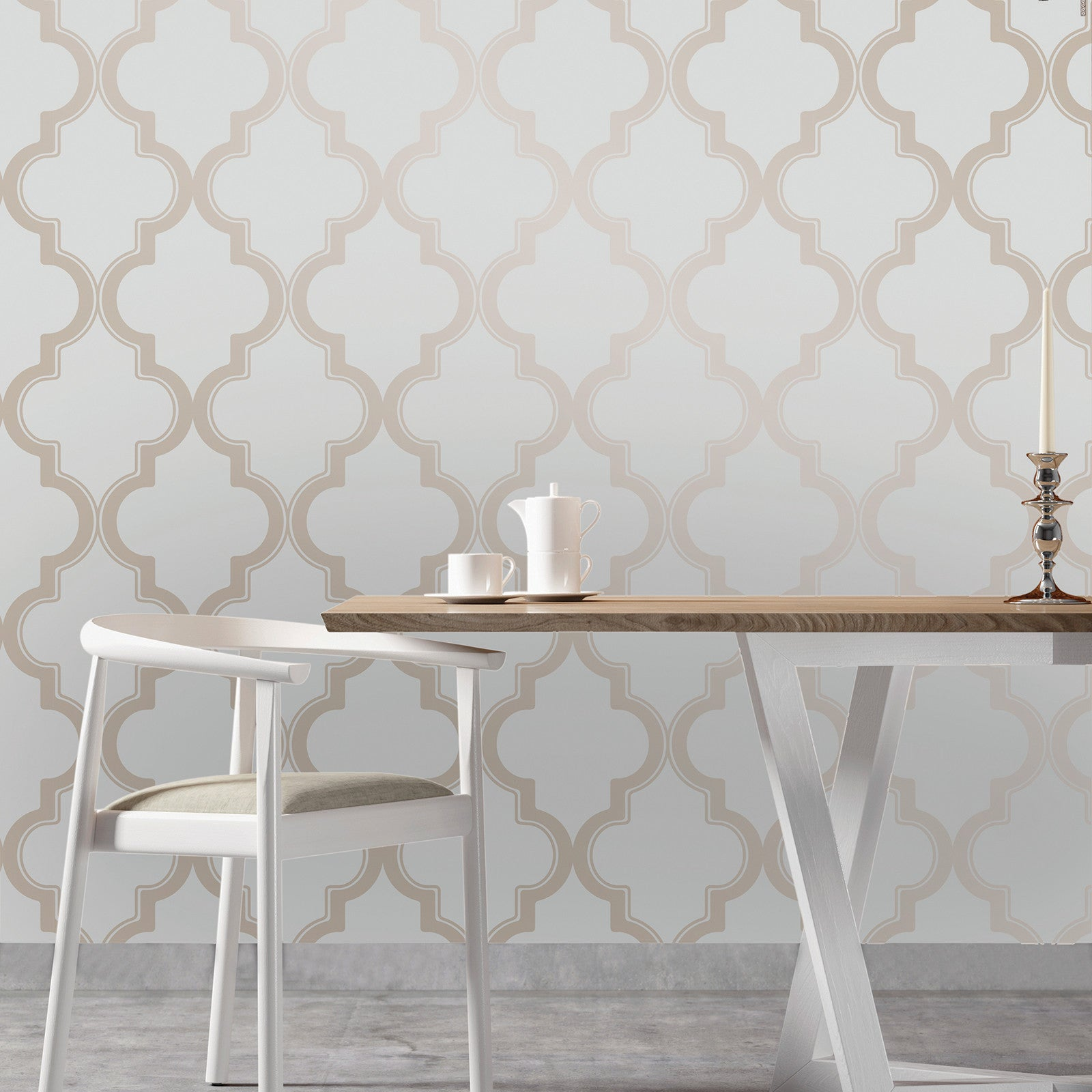 Marrakesh Self Adhesive Wallpaper In Bronze Grey Design By