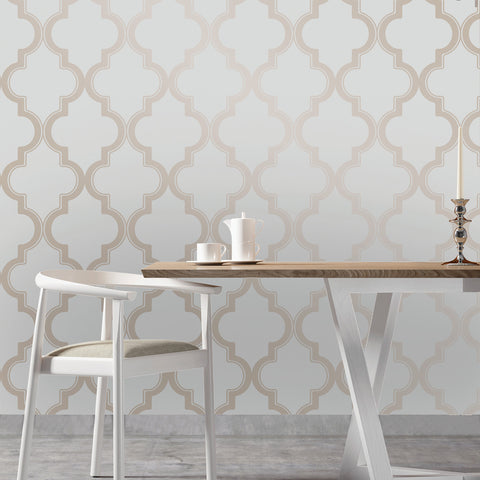 ... Marrakesh Self Adhesive Wallpaper In Bronze Grey Design By Tempaper