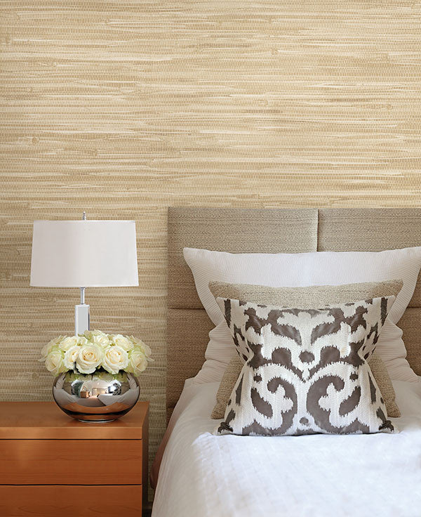 Martina beige grasscloth wallpaper from the jade for Home wallpaper collection
