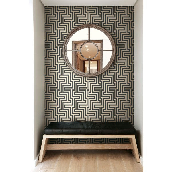 Martinique Wallpaper In Black And Ivory From The Tortuga