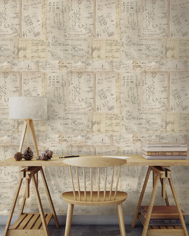 Math Wallpaper in Sepia from the Eclectic Collection by Mind the Gap