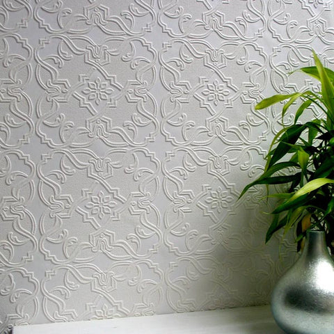 Maxwell Paintable Textured Wallpaper Design By Brewster Home Fashions ...