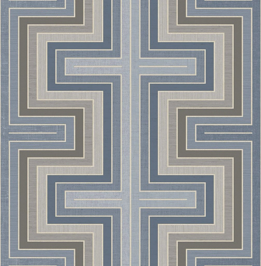 Maze Wallpaper in Pewter from the Sanctuary Collection by Mayflower Wallpaper