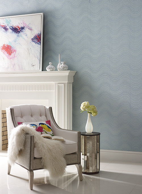 Meander Striped Wallpaper design by Candice Olson for York Wallcoverings