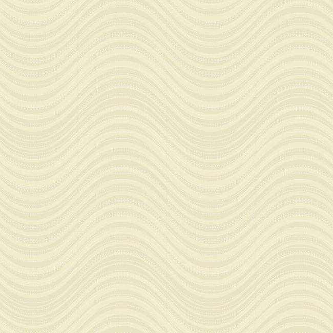 Sample Meander Striped Wallpaper in Gold design by Candice Olson for York Wallcoverings