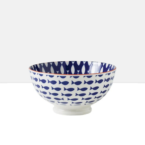 Medium Kiri Porcelain Bowl in Fish
