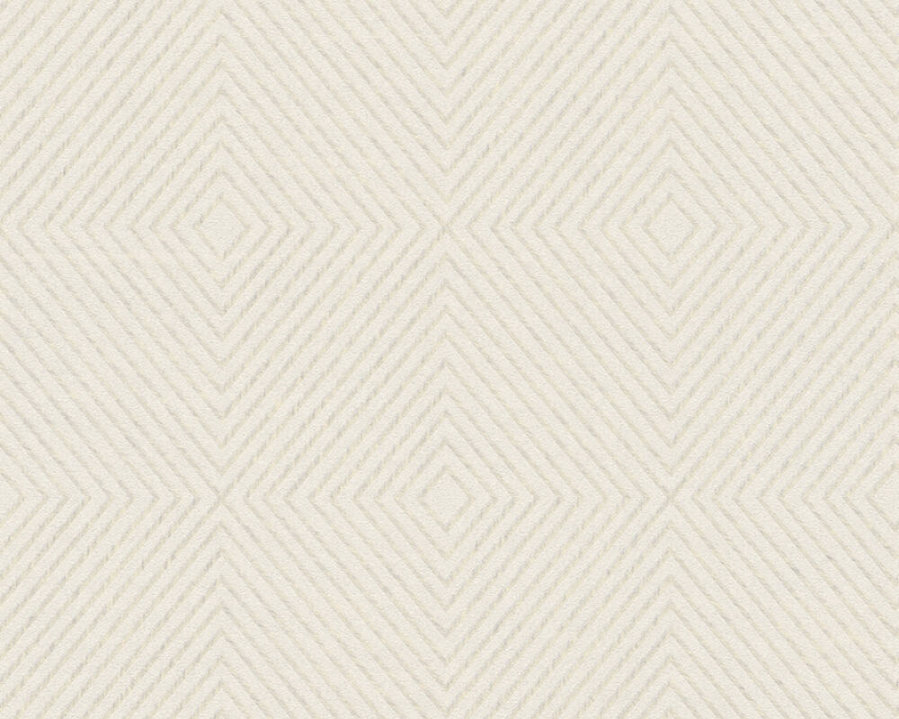 Megan Deco Stripes Wallpaper in Cream and Metallic by BD Wall