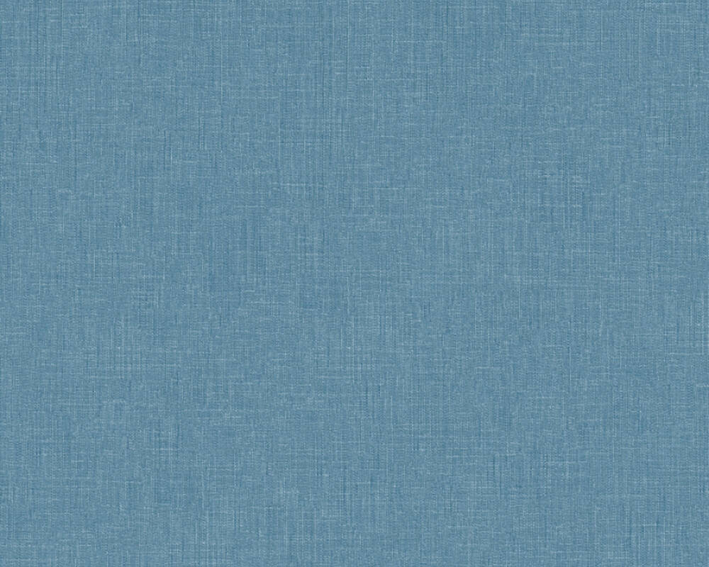 Sample Meika Linen Structure Wallpaper in Blue by BD Wall