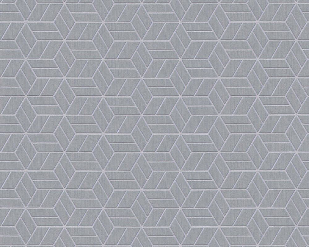 Sample Melina Geo Wallpaper in Grey and Metallic by BD Wall