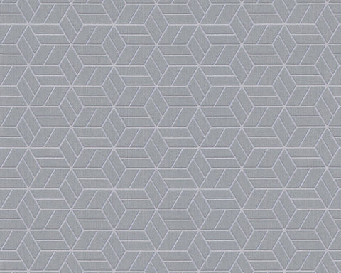 Melina Geo Wallpaper in Grey and Metallic by BD Wall