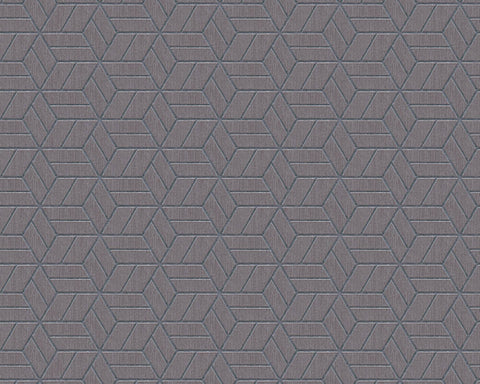 Melina Geo Wallpaper in Metallic and Grey by BD Wall