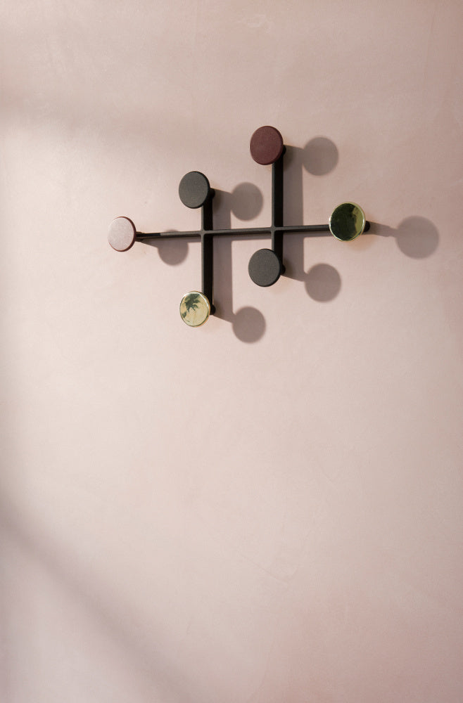 Afteroom Coat Hanger in Black & Brass design by Menu