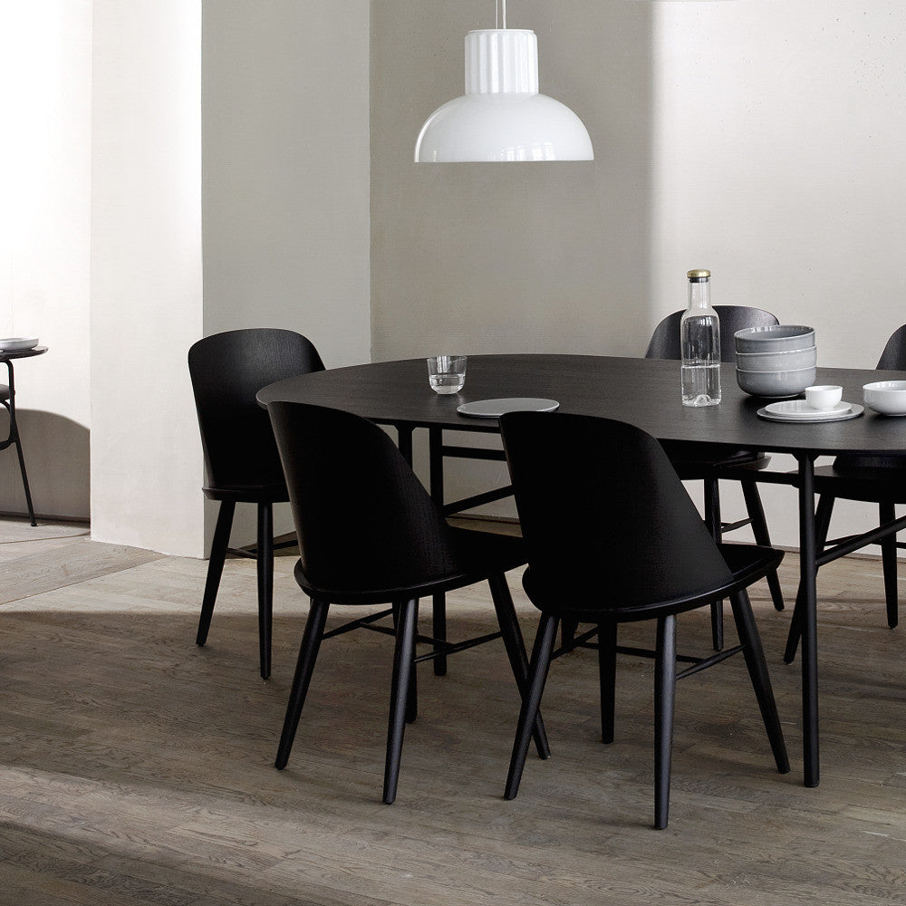 Snaregade Oval Dining Table In Black Veneer Design By Menu