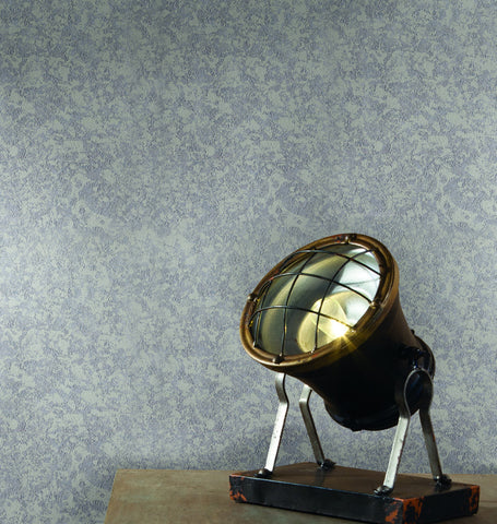 Mercury Glass Wallpaper in Metallic and Greys from Industrial Interiors II by Ronald Redding for York Wallcoverings