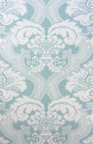 Meredith Wallpaper in Aqua by Nina Campbell for Osborne & Little