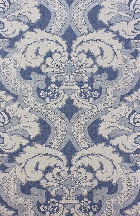 Meredith Wallpaper in Blue by Nina Campbell for Osborne & Little