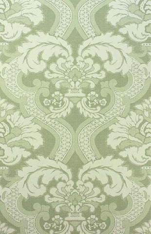 Meredith Wallpaper in Sage by Nina Campbell for Osborne & Little