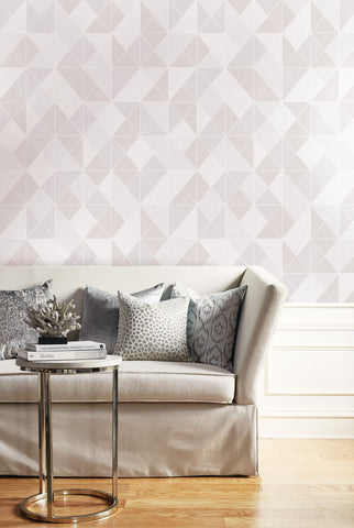 Metallic Geo Wallpaper from the Casa Blanca II Collection by Seabrook Wallcoverings