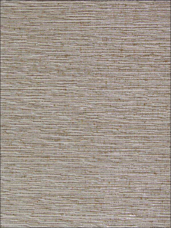Metallic Weaved Stripes Wallpaper in Silver from the Sheer Intuition Collection by Burke Decor