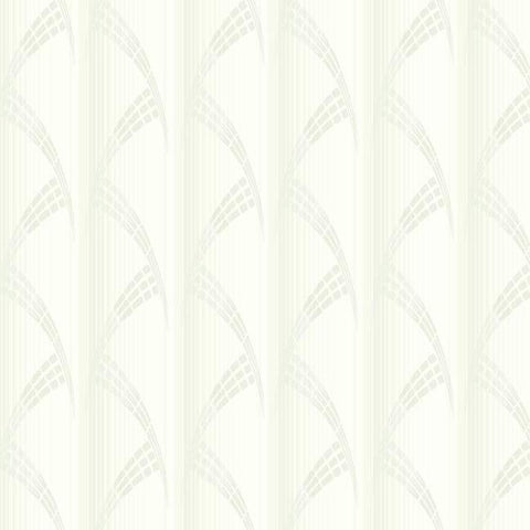 Metropolis Wallpaper in Ivory and White from the Deco Collection by Antonina Vella for York Wallcoverings