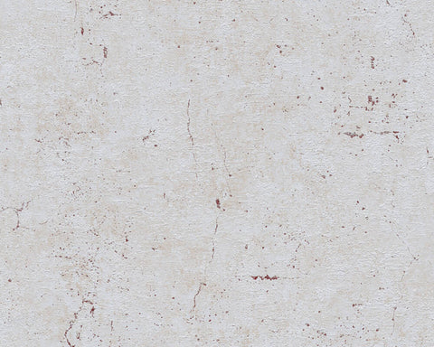 Metta Faux Concrete Wallpaper in Grey and Red by BD Wall