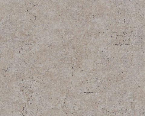 Metta Faux Concrete Wallpaper in Grey and Taupe by BD Wall