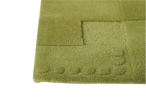 Miami Collection Hand Tufted Wool Area Rug in Green design by Mat the Basics