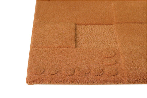 Miami Collection Hand Tufted Wool Area Rug in Orange design by Mat the Basics