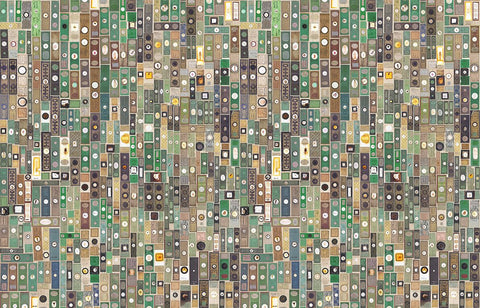 Microscopic Slides Wallpaper design by Mr. and Mrs. Vintage for NLXL Lab