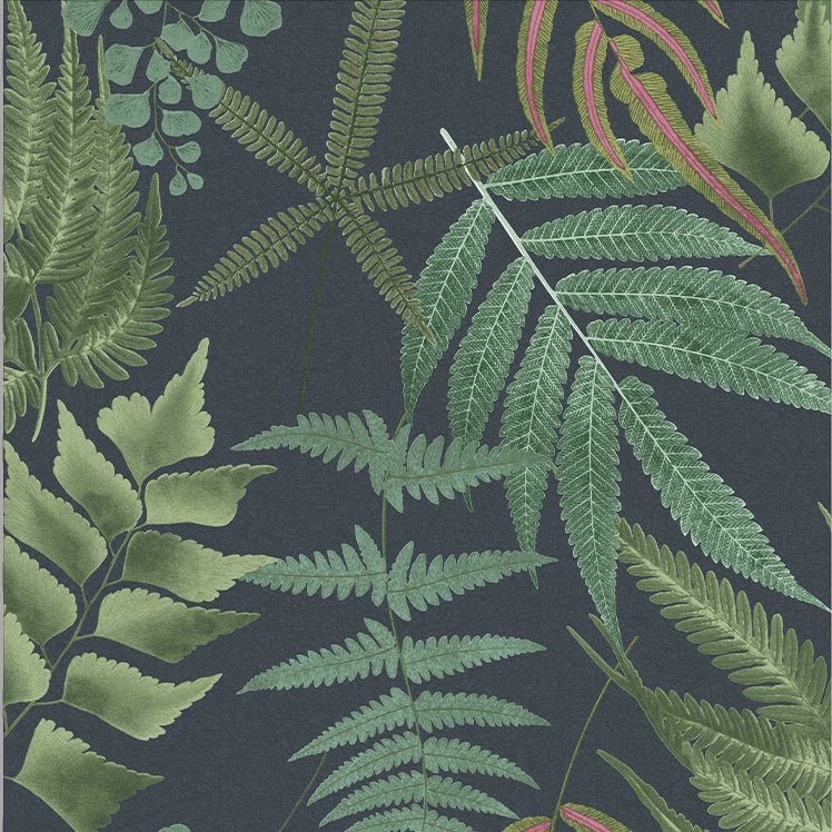 Sample Midsummer Wallpaper in Navy from the Exclusives Collection by Graham & Brown