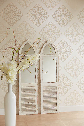 Mikhaila Medallion Wallpaper from the Venue Collection by Brewster Home Fashions