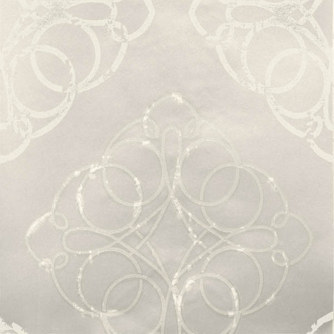 Mikhaila Pearl Medallion Wallpaper from the Venue Collection by Brewster Home Fashions