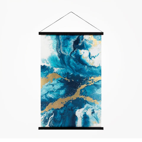 Miko Hanging Printed Canvas Rolled Wall Art - Agate
