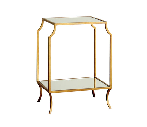Milla Small Side Table in Antique Gold design by Redford House
