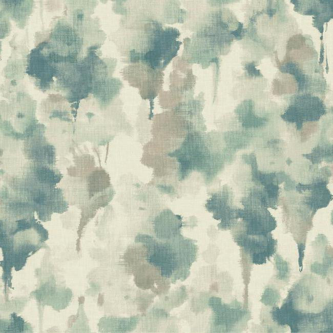 Mirage Wallpaper in Blue and Grey design by Candice Olson for York Wallcoverings
