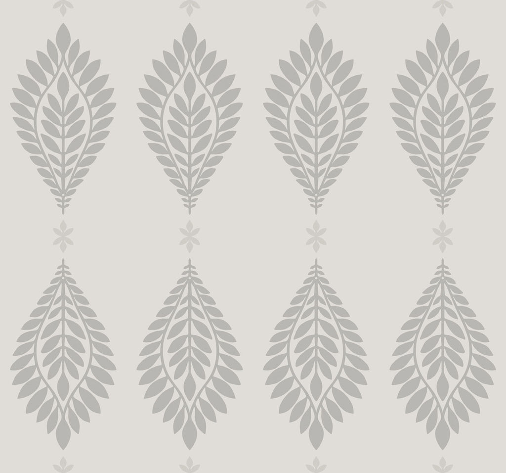 Sample Mirasol Palm Frond Wallpaper in Cove Grey from the Luxe Retreat Collection by Seabrook Wallcoverings