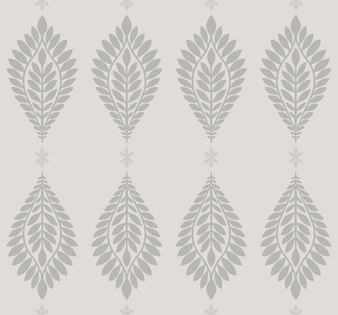 Mirasol Palm Frond Wallpaper in Cove Grey from the Luxe Retreat Collection by Seabrook Wallcoverings