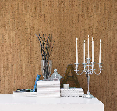 Misha Brown Cork Wallpaper from the Jade Collection by Brewster Home Fashions