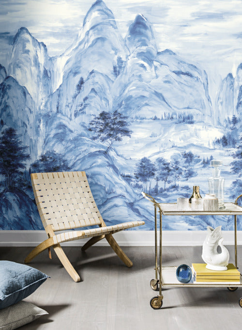 Misty Mountain Wall Mural from the Tea Garden Collection by Ronald Redding for York Wallcoverings