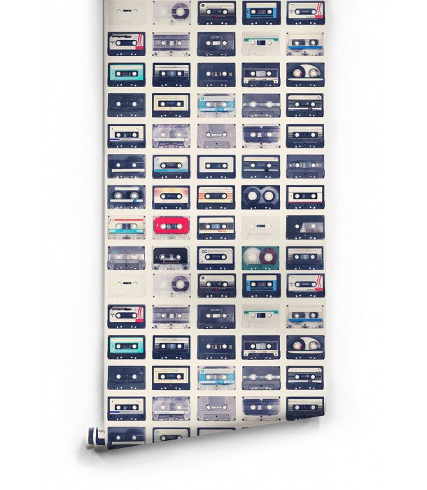 Mixed Tapes Wallpaper design by Milton & King