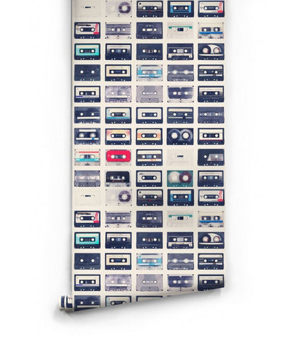 Sample Mixed Tapes Wallpaper design by Milton & King