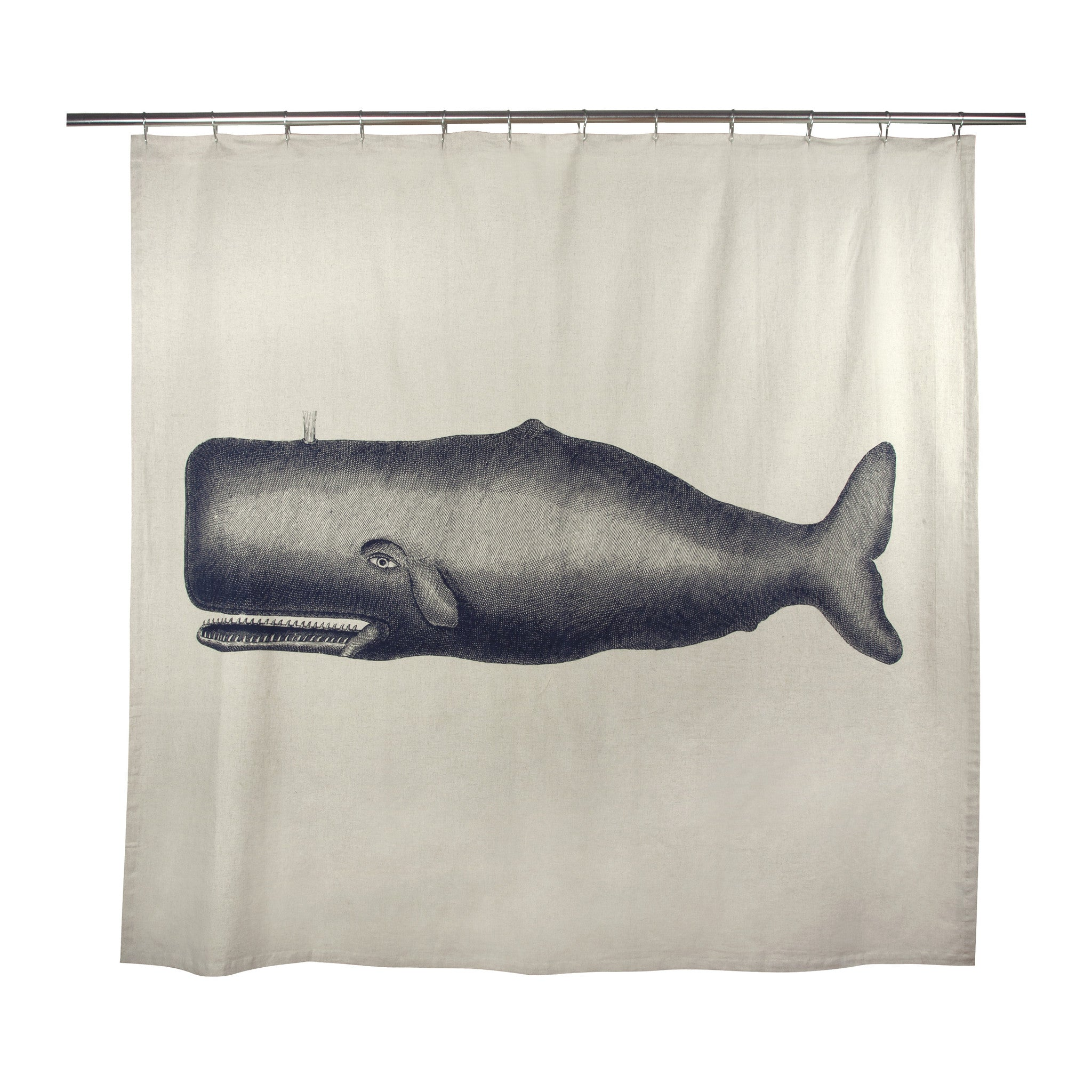 Moby Shower Curtain in Ink design by Thomas Paul – BURKE DECOR